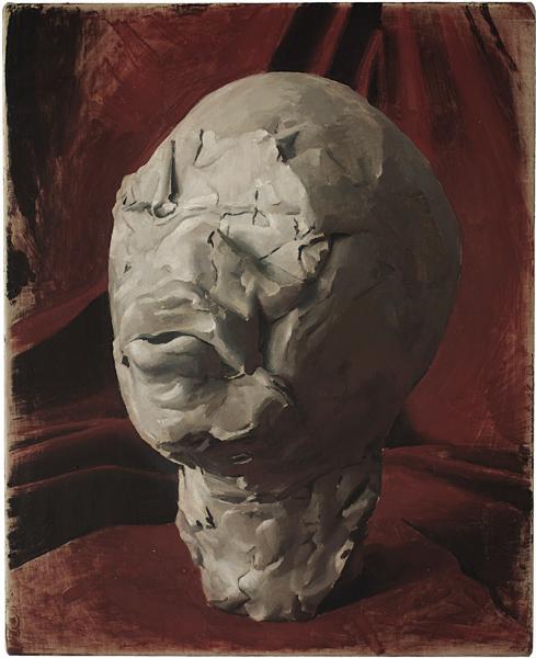 Sudo, 2010 by Damien Meade.  Oil on linen on board 55 x 44.5 cm.