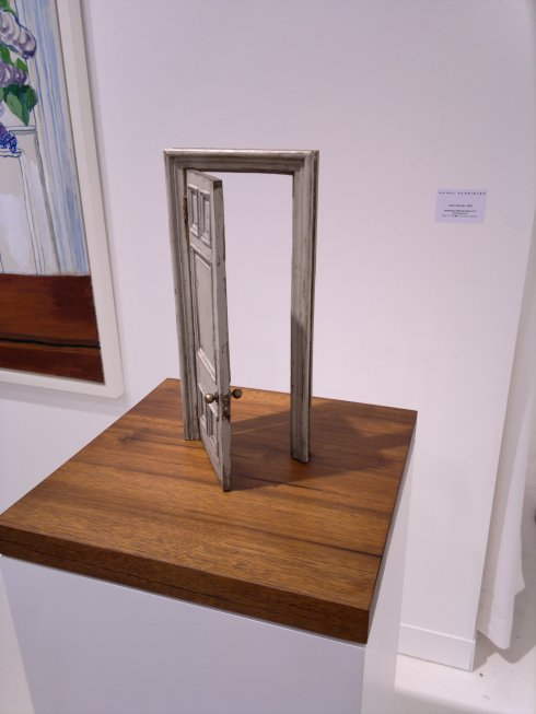 Small Door (Olive & Grey) (2012) by Gavin Turk